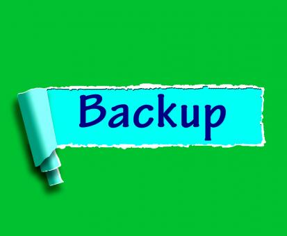 Free Stock Photo of Backup Word Shows Data Copying Or Backing Up