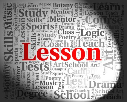 Free Stock Photo of Lesson Word Means Sessions Lessons And Session