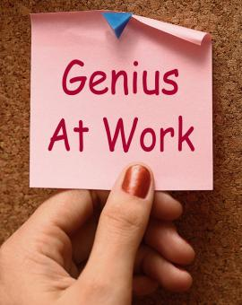Free Stock Photo of Genius At Work Means Do Not Disturb
