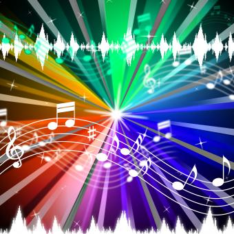 Free Stock Photo of Colorful Music Background Means Brightness Beams And Singing