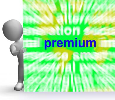 Free Stock Photo of Premium Word Cloud Sign Shows Best Bonus Premiums