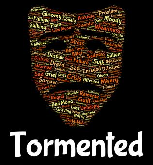 Free Stock Photo of Tormented Word Represents Excruciating Wordclouds And Pain