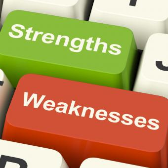 Free Stock Photo of Strengths And Weaknesses Computer Keys Showing Performance Or Analyzin