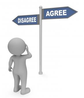 Free Stock Photo of Disagree Agree Sign Indicates All Right And Agreeing 3d Rendering