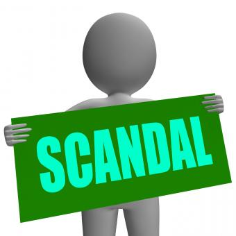 Free Stock Photo of Scandal Sign Character Shows Publicized Incident Or Uncovered Fraud