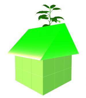 Free Stock Photo of Eco Friendly House Shows Earth Day And Building