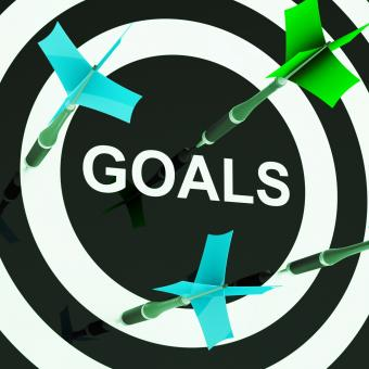 Free Stock Photo of Goals On Dartboard Shows Aspirations
