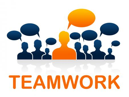 Free Stock Photo of Team Teamwork Means Cooperating Ally And Cooperate