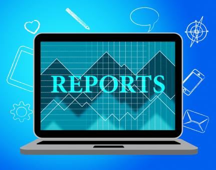 Free Stock Photo of Reports Online Indicates Web Net And Computing