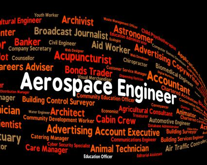 Free Stock Photo of Aerospace Engineer Indicates Word Work And Words