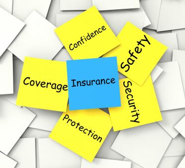 Free Stock Photo of Insurance Post-It Note Shows Financial Security And Coverage