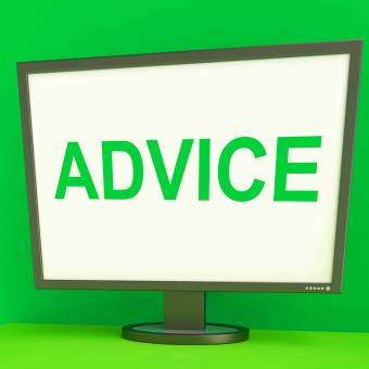 Free Stock Photo of Advice Screen Means Guidance Advise Recommend Or Suggest