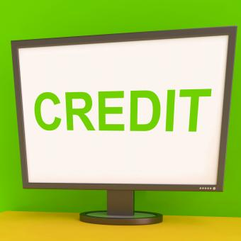 Free Stock Photo of Credit Screen Shows Finance Debt Or Loan For Purchasing