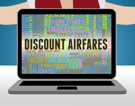 Free Stock Photo of Discount Airfares Represents Selling Price And Aeroplane