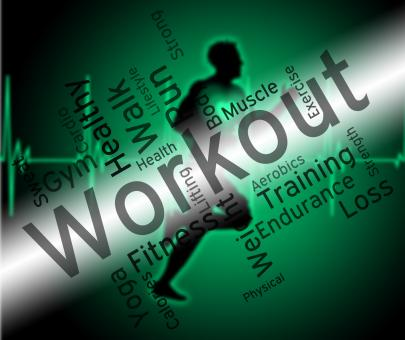 Free Stock Photo of Workout Words Shows Physical Activity And Athletic