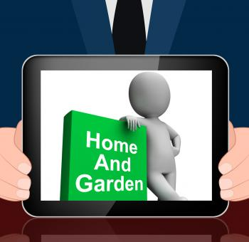 Free Stock Photo of Home And Garden Book With Character Displays Household And Gardening