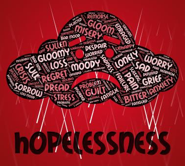 Free Stock Photo of Hopelessness Word Shows In Despair And Defeatist