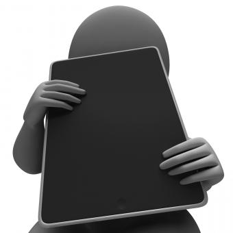 Free Stock Photo of Tablet Computer Showing Touchpad Multimedia