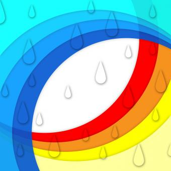 Free Stock Photo of Colorful Curves Background Means Rainbow And Rain Drops