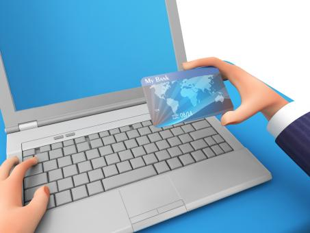 Free Stock Photo of Credit Card Represents World Wide Web And Business 3d Rendering
