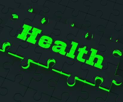 Free Stock Photo of Health Puzzle Shows Healthy Medical Care And Wellbeing