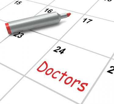 Free Stock Photo of Doctors Calendar Means Medical Consultation And Prescriptions