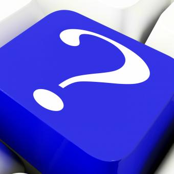 Free Stock Photo of Question Mark Key Shows Help And Doubt