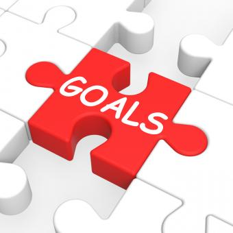 Free Stock Photo of Goals Puzzle Showing Aspiration Targets