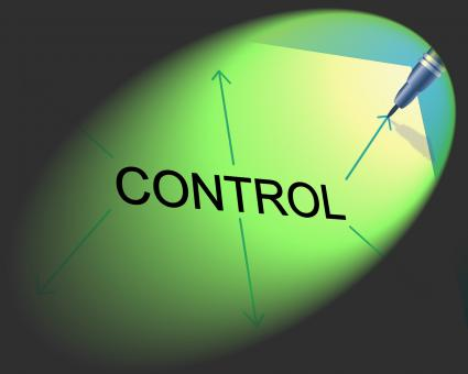 Free Stock Photo of Controlling Management Shows Controller Interface And Head