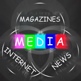 Free Stock Photo of Media Words Displays Magazines Internet and News