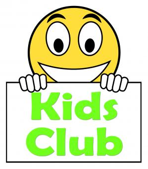 Free Stock Photo of Kids Club On Sign Means Childrens Activities