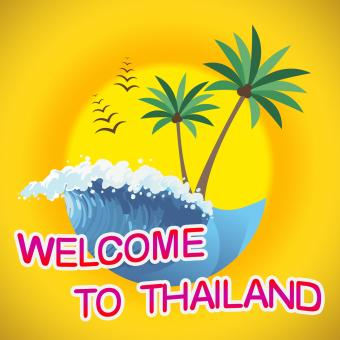 Free Stock Photo of Welcome To Thailand Indicates Summer Time And Coasts