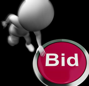 Free Stock Photo of Bid Pressed Shows Auction Buying And Selling