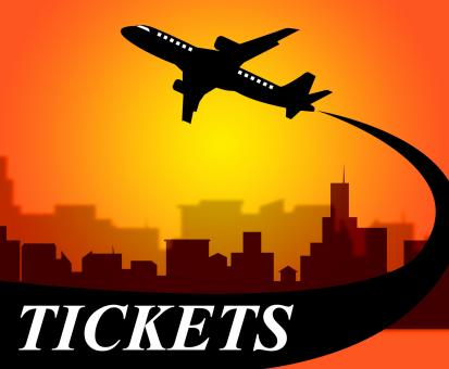 Free Stock Photo of Flights Tickets Represents Aviation Transport And Travel