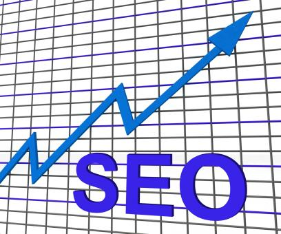 Free Stock Photo of SEO Chart Graph Shows Increase Search Engine Optimization