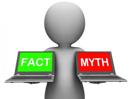 Free Stock Photo of Fact Myth Laptops Show Facts Or Mythology