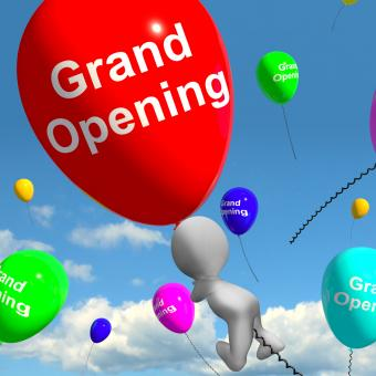 Free Stock Photo of Grand Opening Balloons Shows New Store Launching