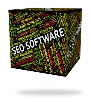 Free Stock Photo of Seo Software Represents Programs Freeware And Optimized