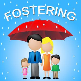Free Stock Photo of Fostering Family Indicates Relative Adoption And Umbrellas