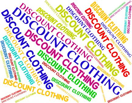Free Stock Photo of Discount Clothing Shows Garment Cheap And Text