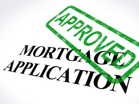 Free Stock Photo of Mortgage Application Approved Stamp Shows Home Loan Agreed