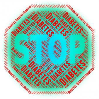 Free Stock Photo of Stop Diabetes Indicates Warning Sign And Danger
