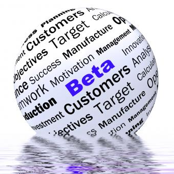 Free Stock Photo of Beta Sphere Definition Displays Trial Version Or Testing