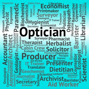 Free Stock Photo of Optician Job Means Eye Doctor And Career