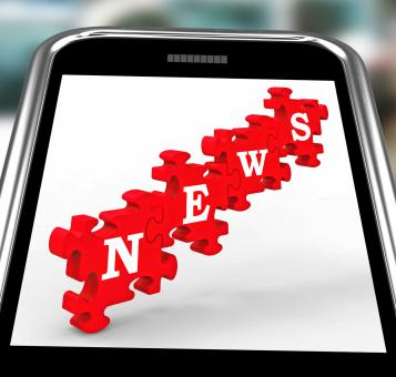 Free Stock Photo of News On Smartphone Showing Online Journalism
