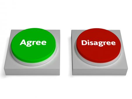 Free Stock Photo of Agree Disagree Buttons Shows Agreement