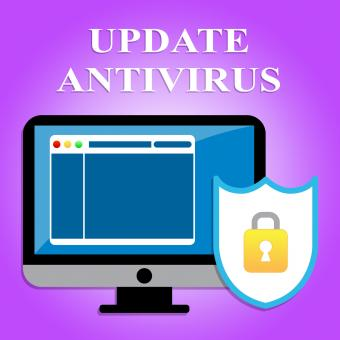 Free Stock Photo of Update Antivirus Means Malicious Software And Hack