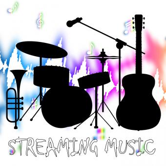 Free Stock Photo of Streaming Music Represents Sound Acoustic And Broadcasting