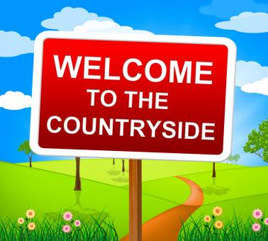 Free Stock Photo of Countryside Welcome Means Greetings Landscape And Greeting