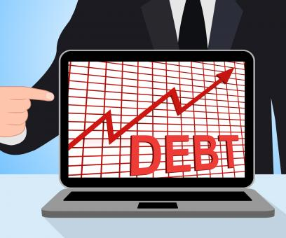 Free Stock Photo of Debt Graph Chart Displays Increasing Financial Indebted